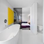 Design slaapkamer met badkamer