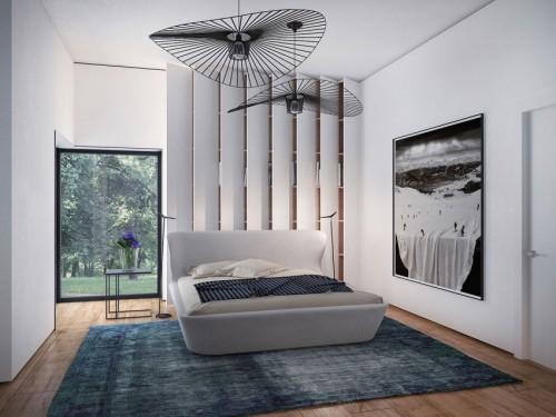 Design slaapkamer met designmeubelen