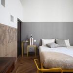 Design slaapkamer met geel en grijs
