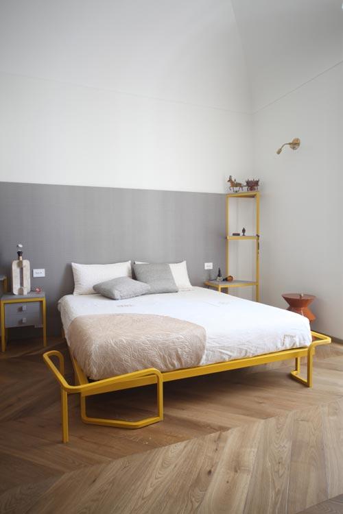 Design slaapkamer met geel en grijs slaapkamer idee n - Moderne design slaapkamer ...