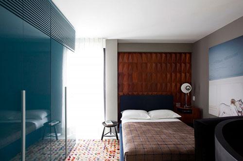Design slaapkamer in klein appartement slaapkamer ideeën