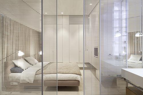 Design slaapkamer van loft appartement