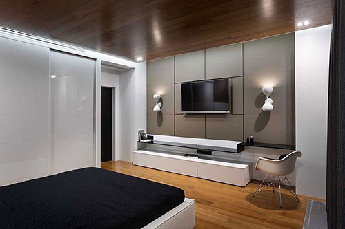 Design slaapkamer interieur architect Denis Rakaev