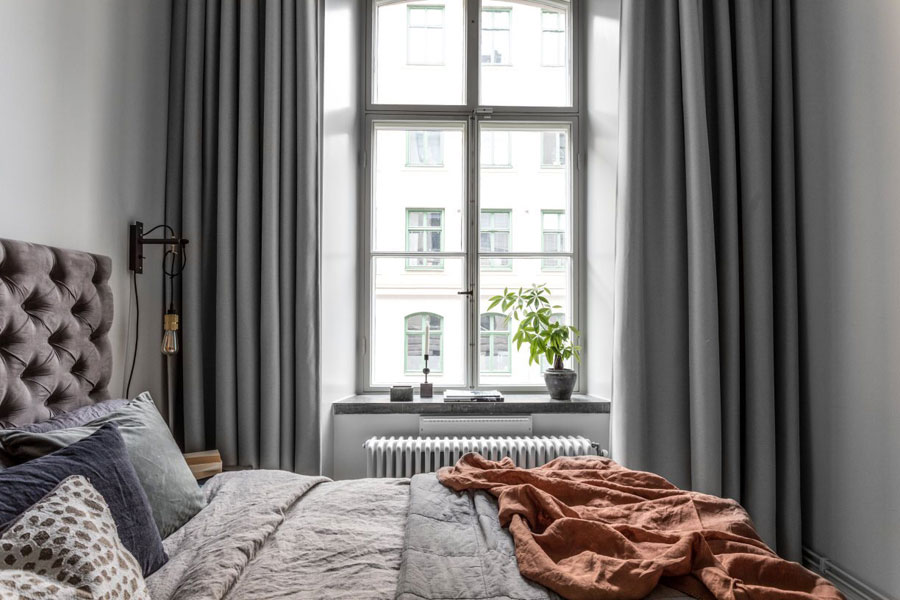 Deze karakteristieke slaapkamer is super strak afgewerkt!