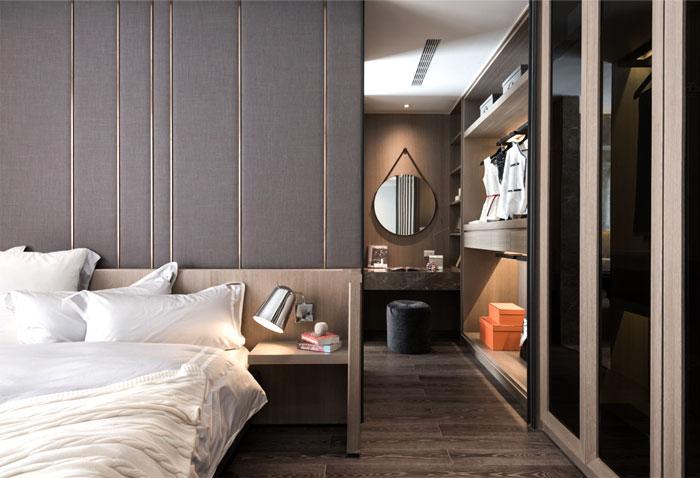 Deze luxe slaapkamer lijkt op de kamer van een luxe hotel!