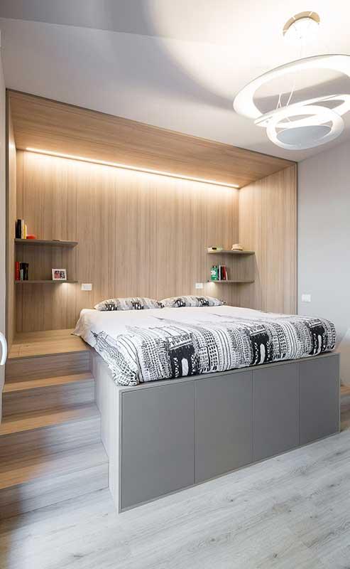 Deze moderne slaapkamer is afgewerkt met super strakke maatwerk oplossingen