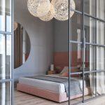 Deze moderne slaapkamer is stijlvol ingericht met zachte kleurtinten