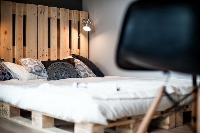 Deze slaapkamer is erg leuk en creatief ingericht! | Slaapkamer ideeën