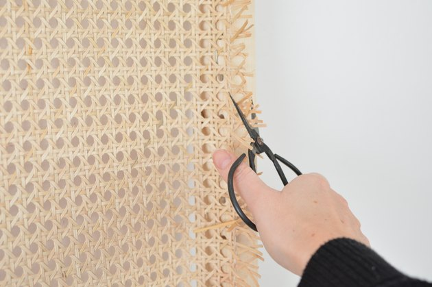 diy cane webbing hoofdbord