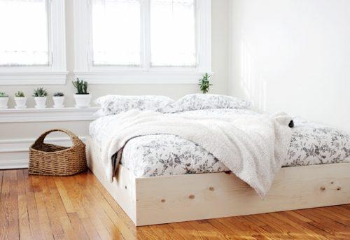 DIY underlayment bedframe