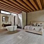 Ecologische rustieke slaapkamer