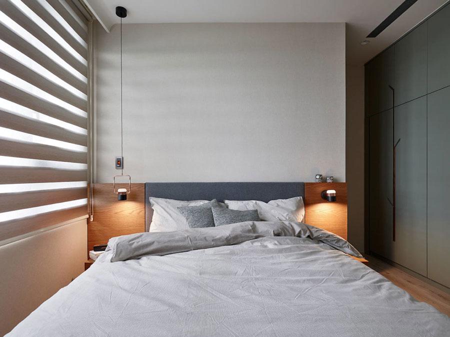 Een strak en modern slaapkamerontwerp met invloed van de natuur