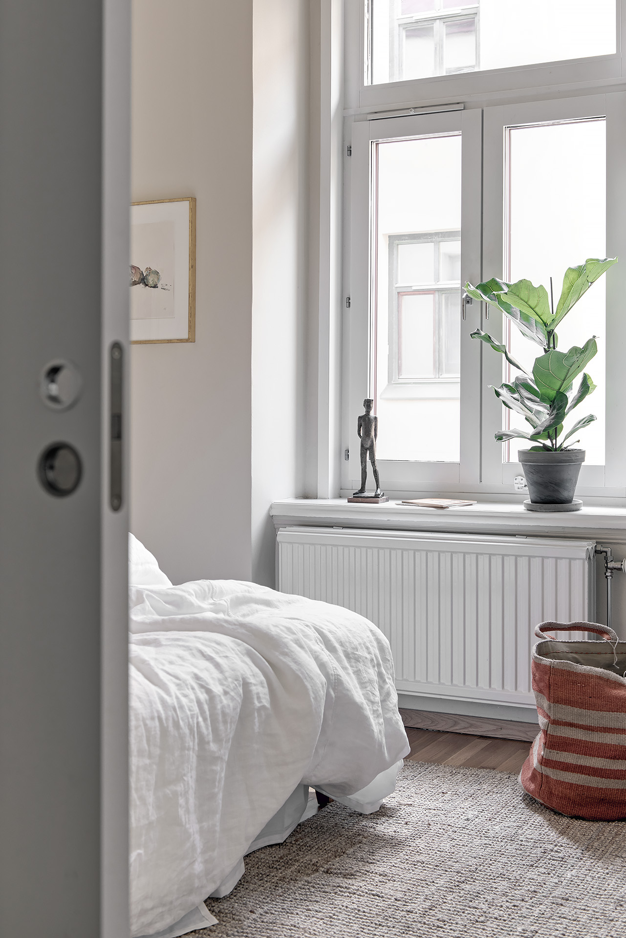 Eenvoudig warme slaapkamer
