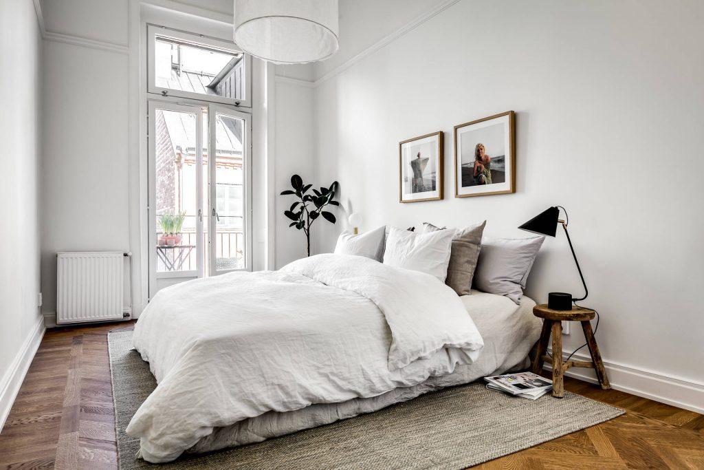 Eenvoudige maar erg mooie slaapkamer styling | Slaapkamer ideeën