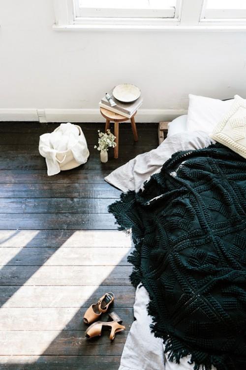 Eenvoudige slaapkamer styling