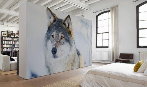 Fotobehang in de slaapkamer