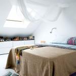 Frisse loft slaapkamer