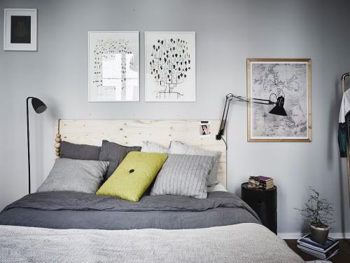 Gepimpte Scandinavische slaapkamer  Slaapkamer ideeën