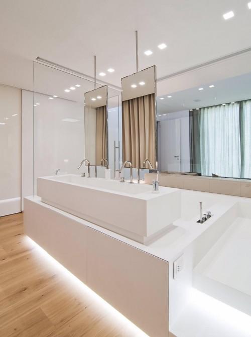 Glazen wand tussen luxe slaapkamer en badkamer  Slaapkamer ideeën