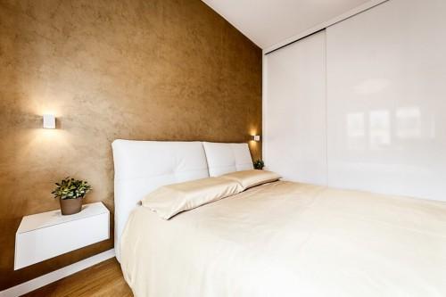 Gouden muur in de slaapkamer | Slaapkamer ideeën