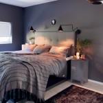 Grijze slaapkamer met kerstsfeer