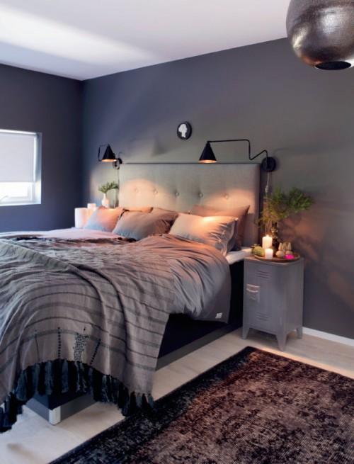 Grijze slaapkamer met kerstsfeer slaapkamer idee n - Grijze slaapkamer ...