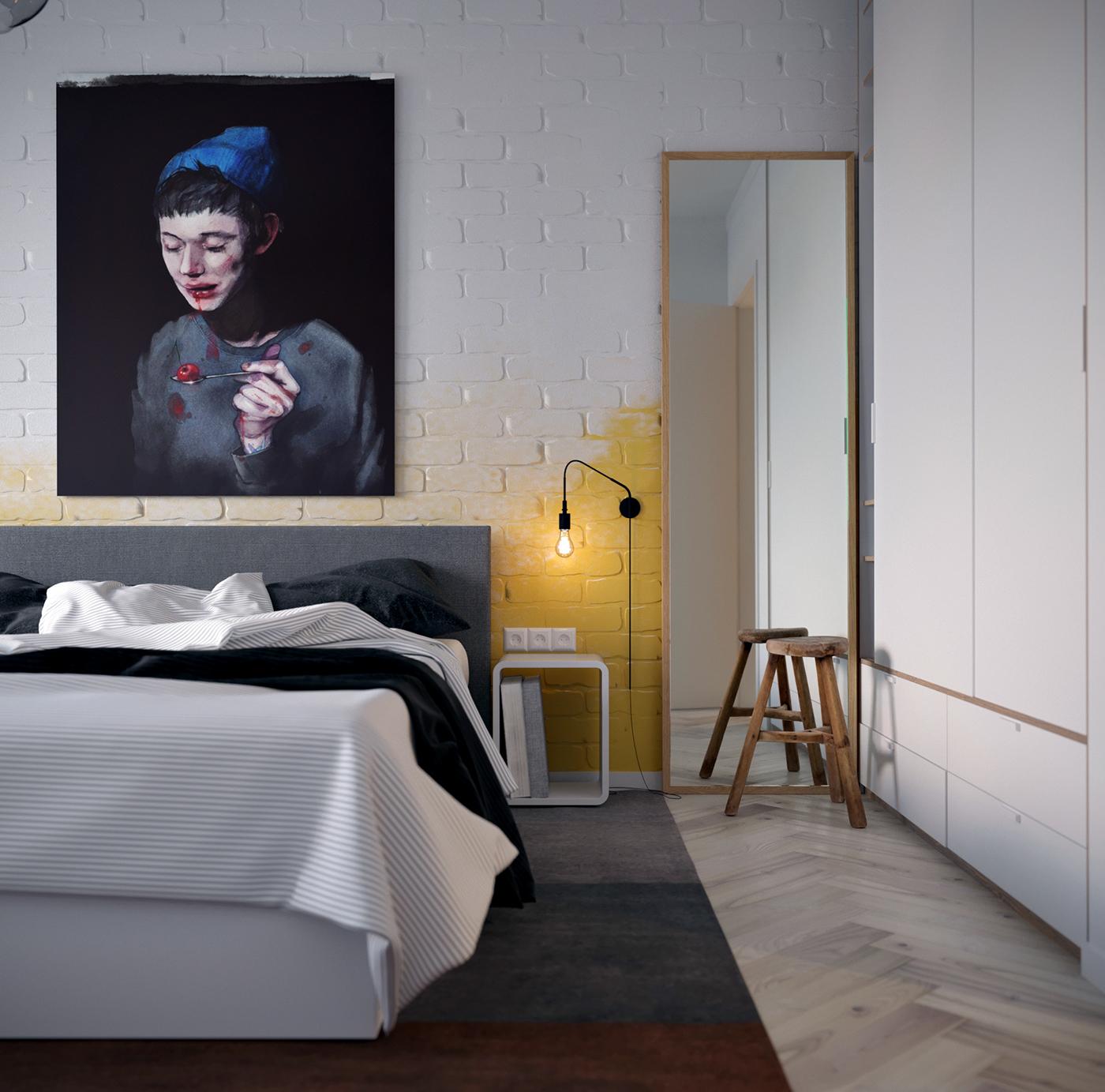 grote-schilderij-boven-bed