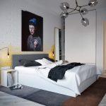 Moderne loft slaapkamer ontwerp