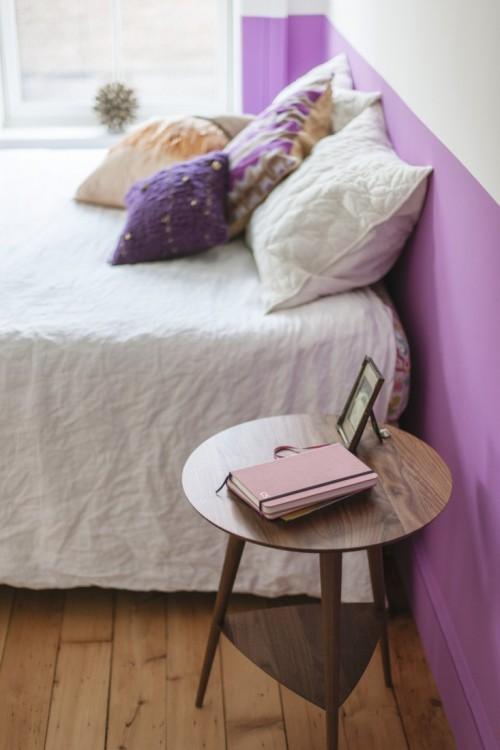 Half geschilderde muren in de slaapkamer  Slaapkamer ideeën