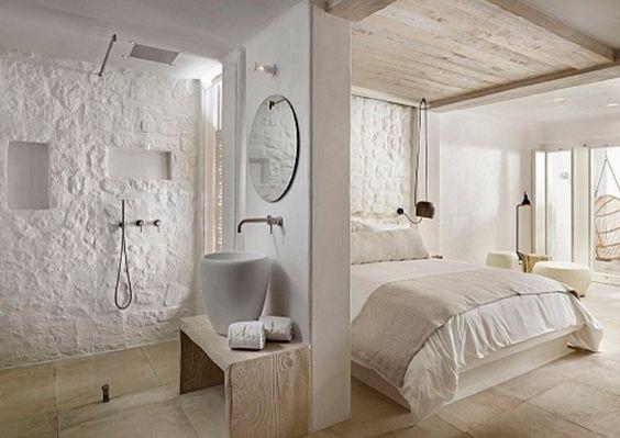 half open badkamer slaapkamer