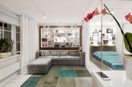Half open slaapkamer in klein appartement slaapkamer idee n - Kinderkamer ruimte ...