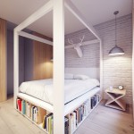 Veel opbergruimte in Poolse slaapkamer