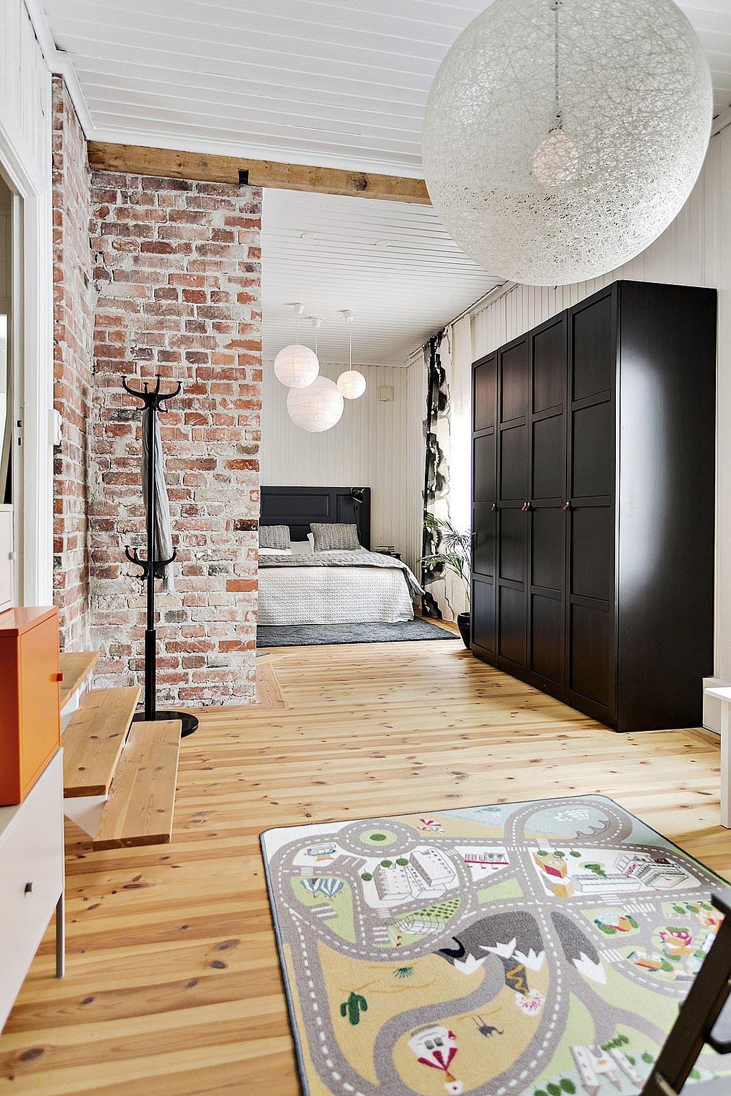 Hier is de master bedroom en de kinderkamer gecombineerd!