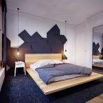 Hout en zwart in de slaapkamer