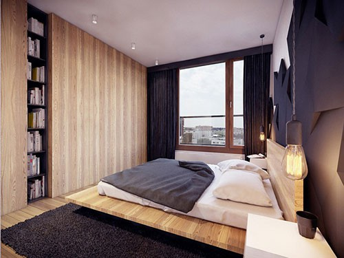 hout en zwart in de slaapkamer  slaapkamer ideeën, Meubels Ideeën