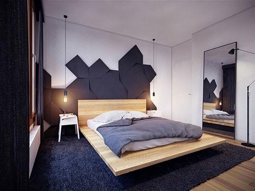Hout en zwart in de slaapkamer  Slaapkamer ideeën