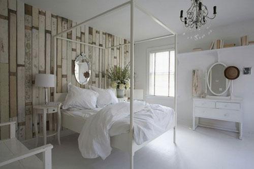 steigerhouten muur slaapkamer  consenza for ., Meubels Ideeën