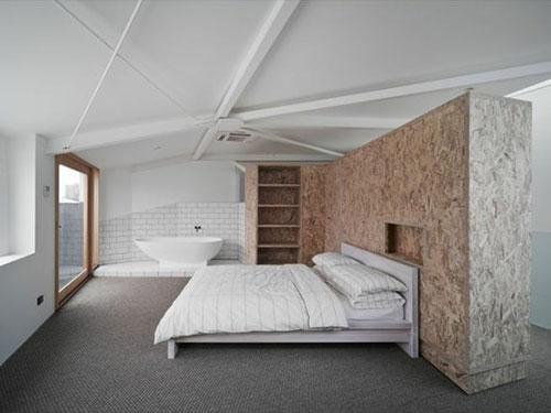 houten wand in slaapkamer  slaapkamer ideeën, Meubels Ideeën