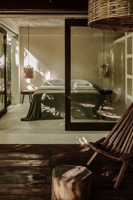 Ibiza stijl slaapkamer uit Mexico