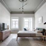 Imposante Scandinavische moderne slaapkamer