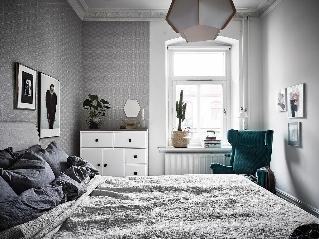 In deze slaapkamer vind je een aantal verrassende blikvangers