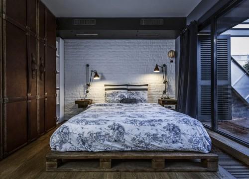 Industrieel chique slaapkamer