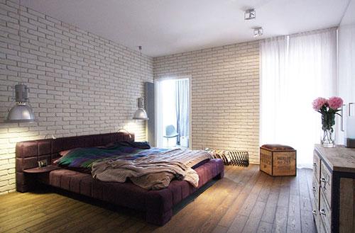 Industrieel elegante slaapkamer