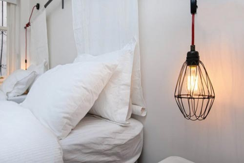 Industriële hanglampen als nachtlamp