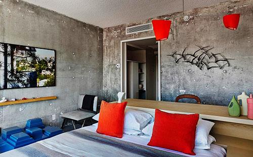 Industri Le Kleurrijke Slaapkamer Van The Line Hotel Slaapkamer Idee N