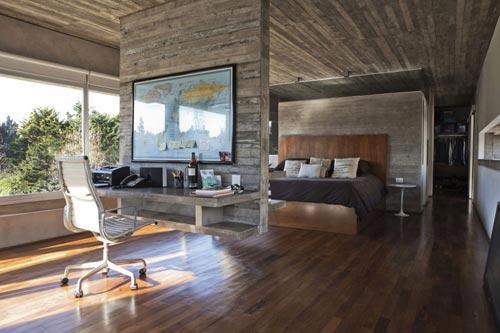 Industriële slaapkamer ideeën uit Argentinië