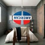 Industriële slaapkamer voormalige garage