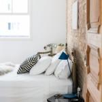 Industriële vintage slaapkamer uit Brazilië
