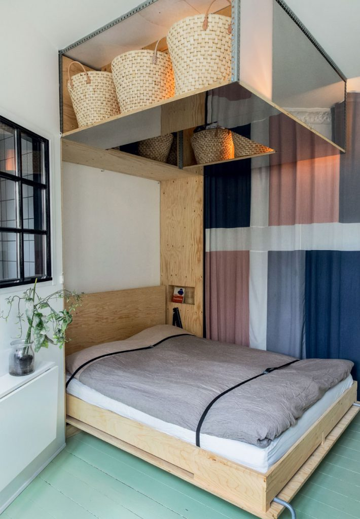Inklapbaar bed in de slaapkamer