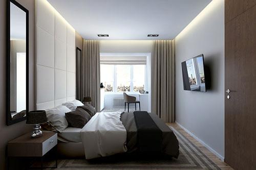 Inspiratie voor ontwerp van moderne slaapkamer  Slaapkamer ideeën